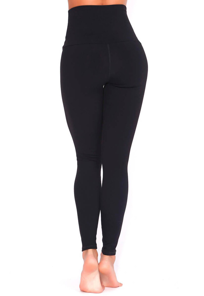 Protokolo Black High Waisted Leggings