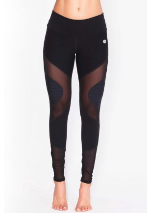 Protokolo Black And Mesh Leggings