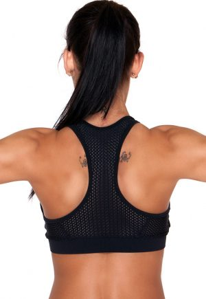 LF Black And Blue Mesh Bra Top
