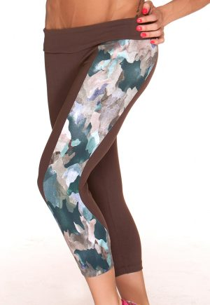 LF Brown Capris With Camo Detail