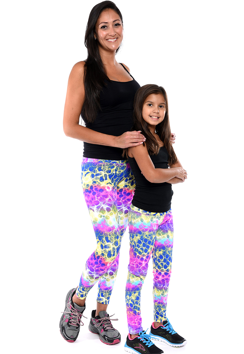 LF Mom And Daughter Neon Print Legging
