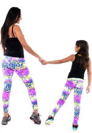 LF Mom And Daughter Neon Print Legging
