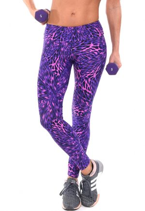 LF Legging Purple Animal Print