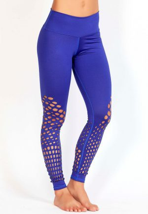 Protokolo Purple Cut Out Leggings