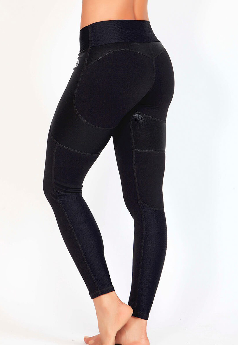 Protokolo Black Wet Look Leggings