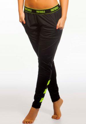 Protokolo Black & Neon Green Jogger Legging