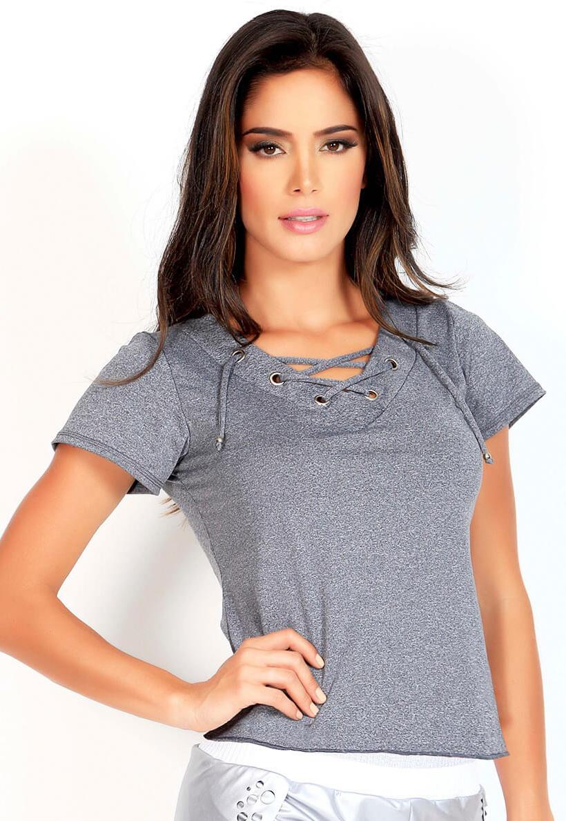 Protokolo Gray Short Sleeve Shirt