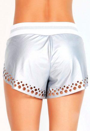 Protokolo Metallic Silver Shorts