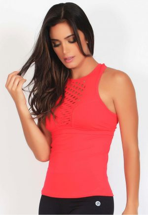 Protokolo Coral Tank Top With Holes