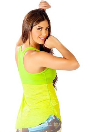 Protokolo Mesh Bottom Tank Lime