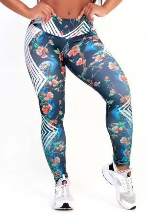 Protokolo Peacock Flower Leggings