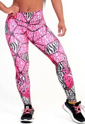 Protokolo Pink Cheetah With Zebra Leggings