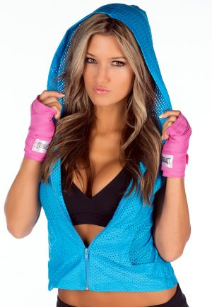 LF Mesh Sleeveless Hoodie Turquoise