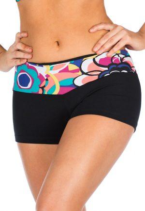 LF Retro Print Waist Shorts
