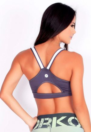 Protokolo Grey Zip Bra Top