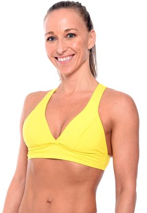 LF V-Neck Bra Top Yellow