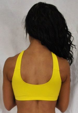 LF Criss Cross Bra Top Yellow