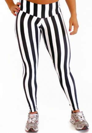 Striped Black and White Legging