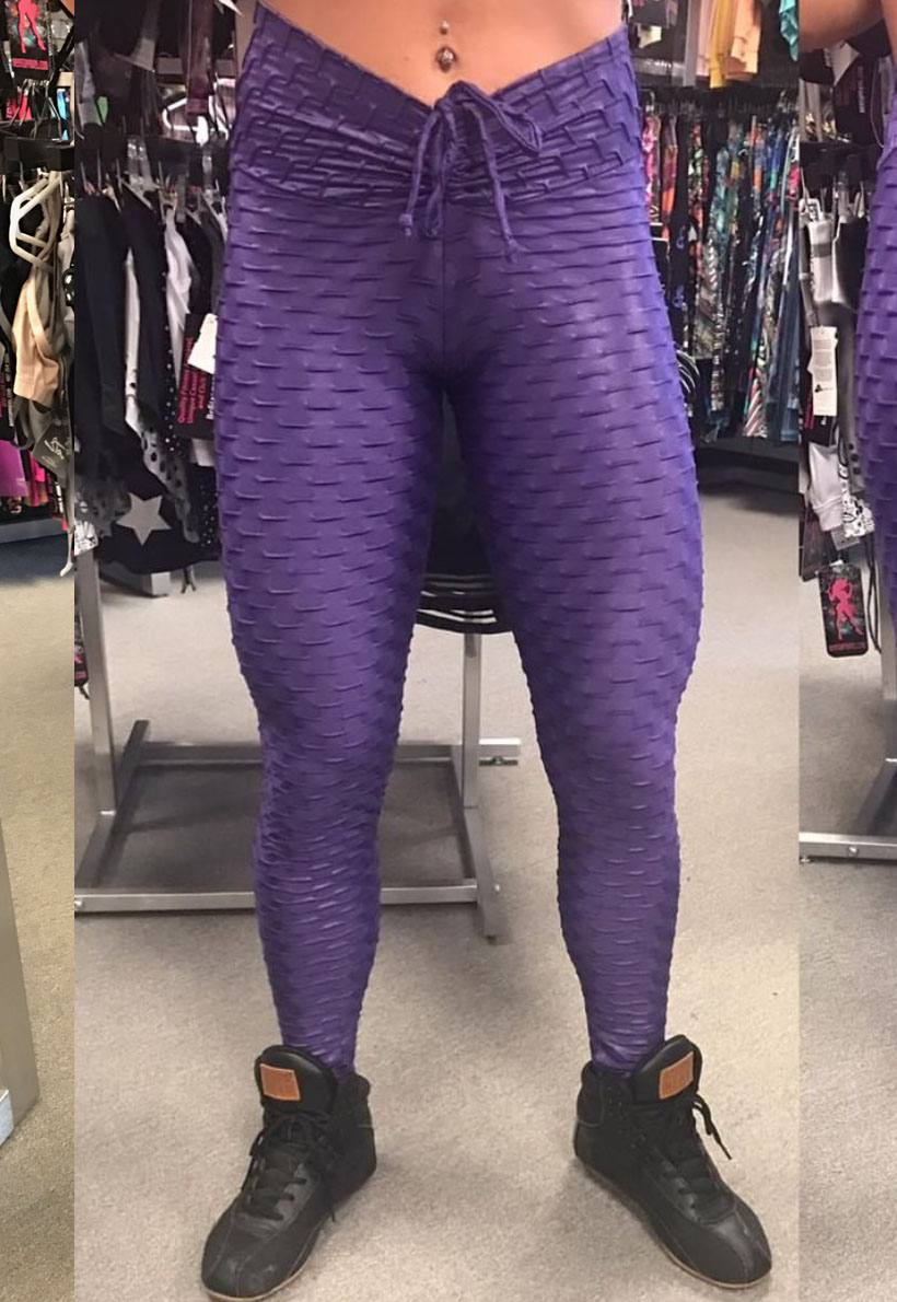 b99155404a4b39 Be Fit Purple Wet Look Bubble Scunch Butt - Be Fit Apparel